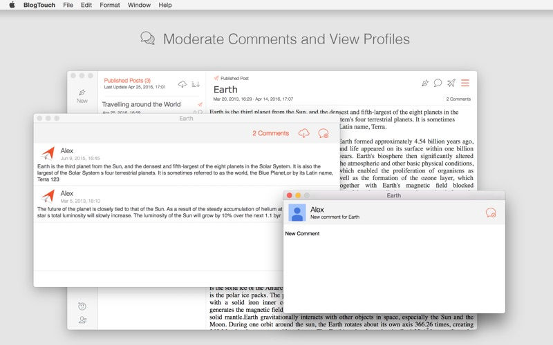 BlogTouch for Blogger for Mac