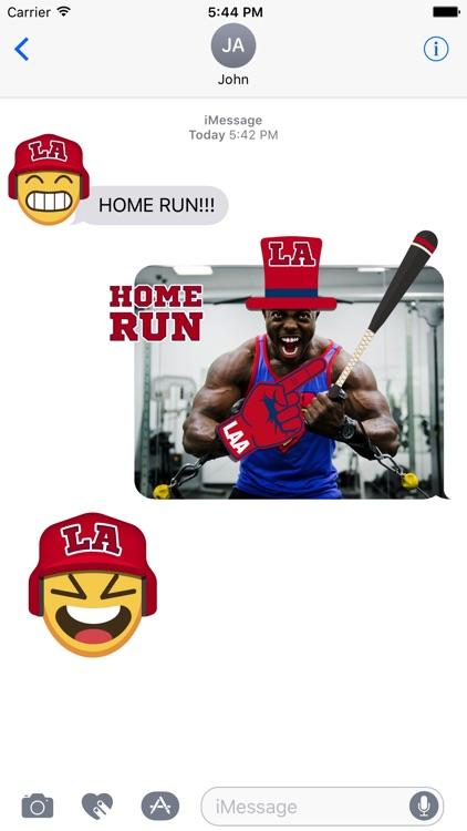 Los Angeles A Baseball Stickers & Emojis