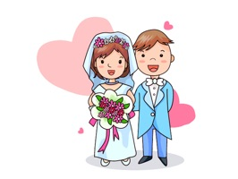 Happy Wedding Couple Sticker