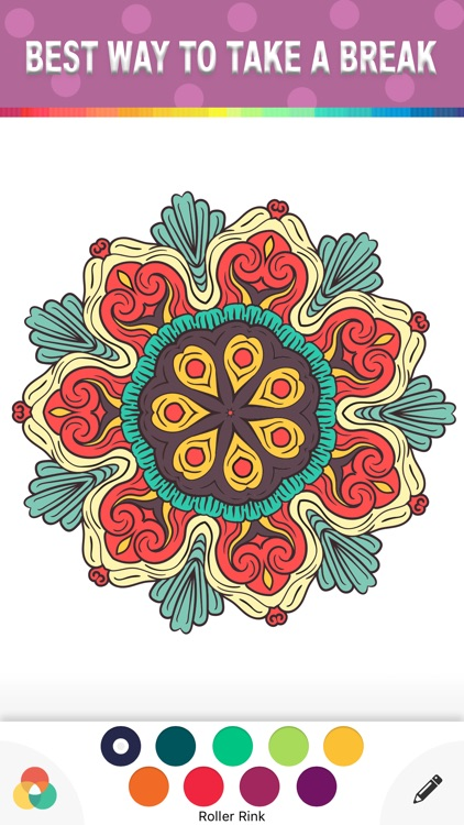 Mandala Coloring Book Color Therapy For Adults Screenshot 2