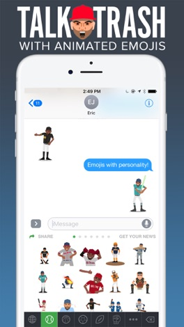 SportsManias: Emojis & Fantasy screenshot for iPhone