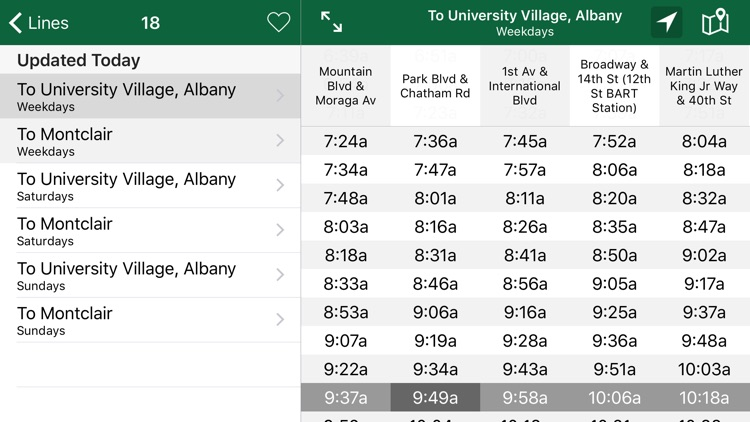 Schedules - AC Transit Time Tables screenshot-4