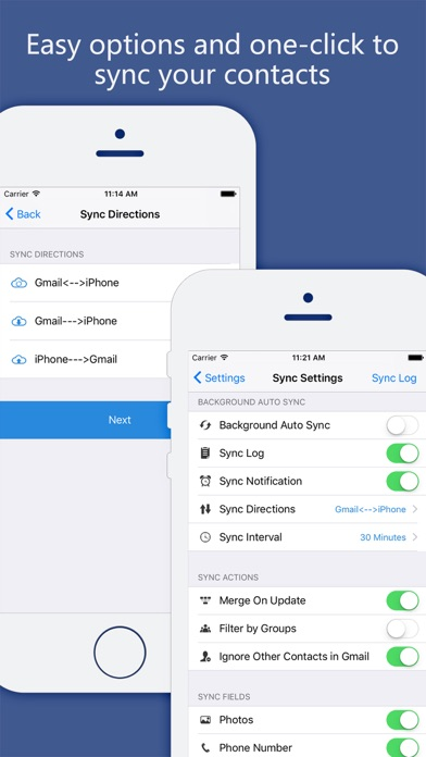 Sync your Contacts for Google Screenshot on iOS