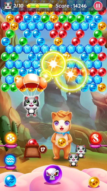 Witch Puzzle Kitty Cat Pop: Bubble Shooter Games screenshot-3