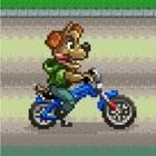 Cyclist bear icon