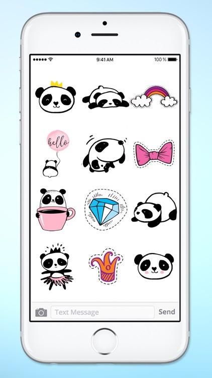 Panda Bear Patches Sticker Pack screenshot-3