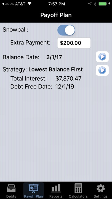 Screenshot for Debt Payoff Pro in United States App Store