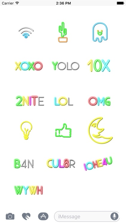 Neon Animated Stickers
