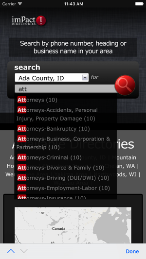 Impact Directories on the App Store