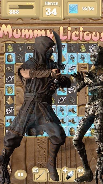 Assassin Vs Mummies - Match 3 screenshot one