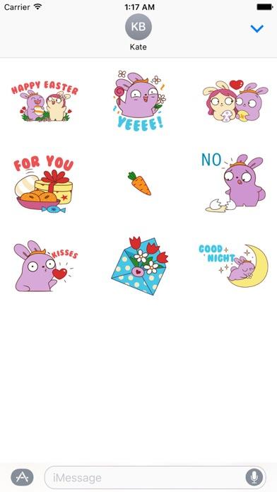 Love of Bunnies in Easter Sticker screenshot 2