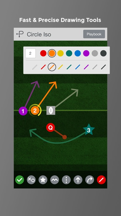 Screenshot #1 pour Flag Football Playmaker HD