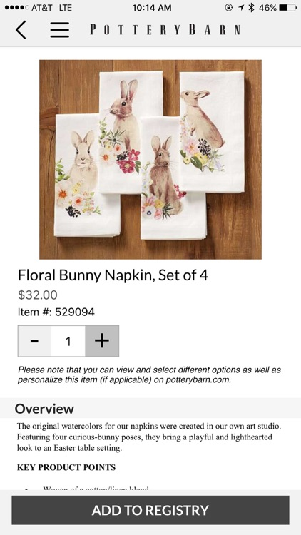 Pottery Barn Wedding Registry screenshot-3