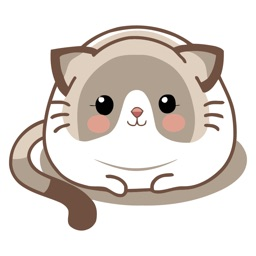 Dainty Cat Animated Emoji Stickers