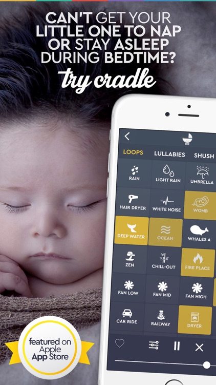 White Noise Sounds Generator Cradle for Babies screenshot-0