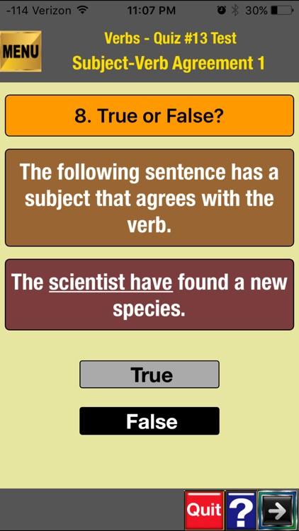 easyLearn Verbs  in English Grammar screenshot-4