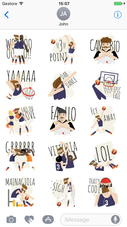 LBA stickers - LegaBasket Serie A screenshot-1