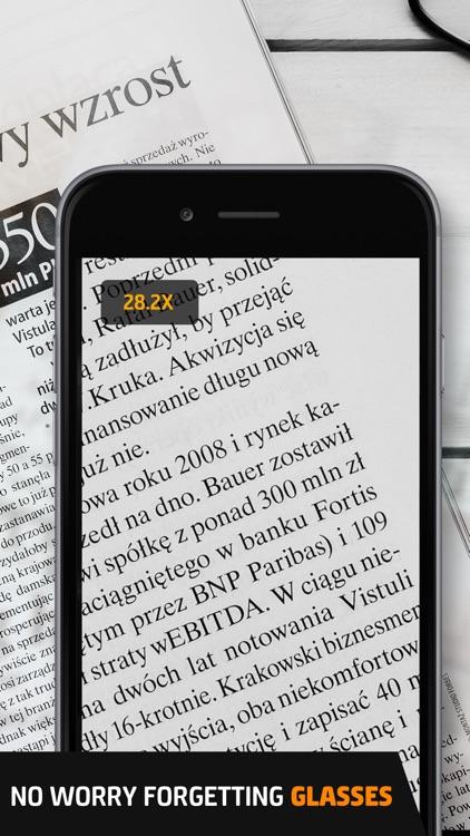 Pocket Glasses Pro - Magnifier with LED Flashlight screenshot-3
