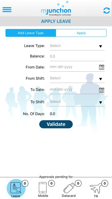 HRIS-mjunction screenshot