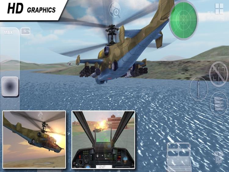Black Shark HD - Combat Gunship Flight Simulator screenshot-4