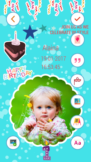 Birthday invitation card maker hd on the app store iphone ipad stopboris Choice Image