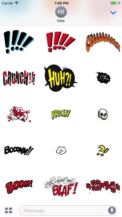 Comic Talk Stickers Pack 03