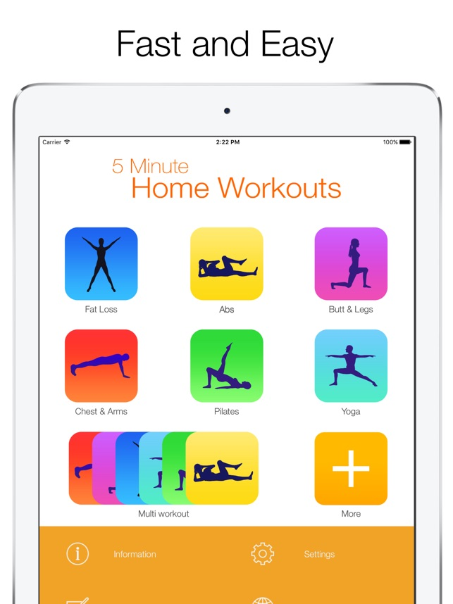 5 Minute Home Workouts On The App Store