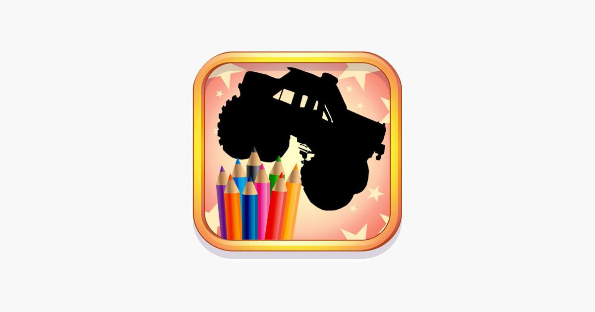 Cocuklar Ve Okuloncesi Icin Monster Truck Boyama App Store Da