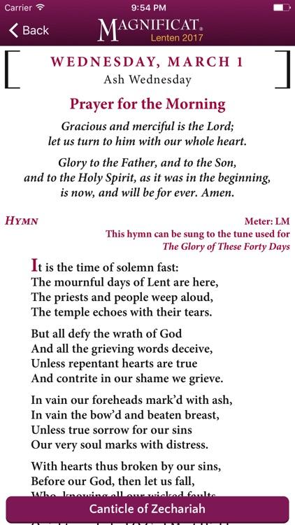 Lenten Magnificat Companion 2017