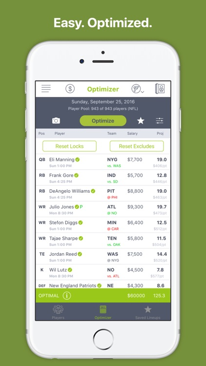 Lineups IQ -  DFS Optimizer 17