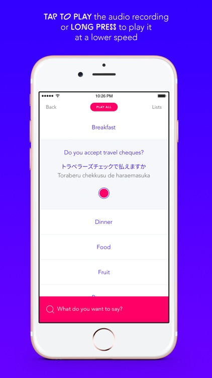 Taptaro - English to Japanese Travel Phrasebook