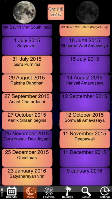 India Panchang Calendar 2010 screenshot four