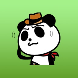 Cowboy Jack the panda stickers