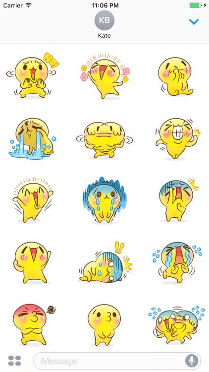 Mr.Powwaw Emoticon Stickers 3