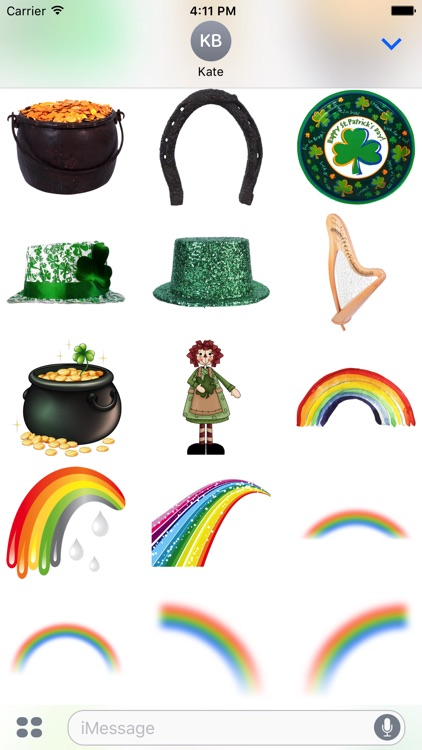 St. Patricks Stickers #1 for iMessage screenshot-4