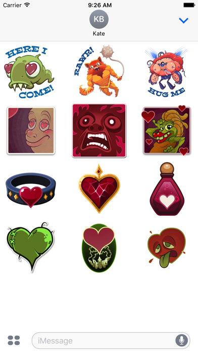 Crazy Valentines Day Stickers from Solitairica