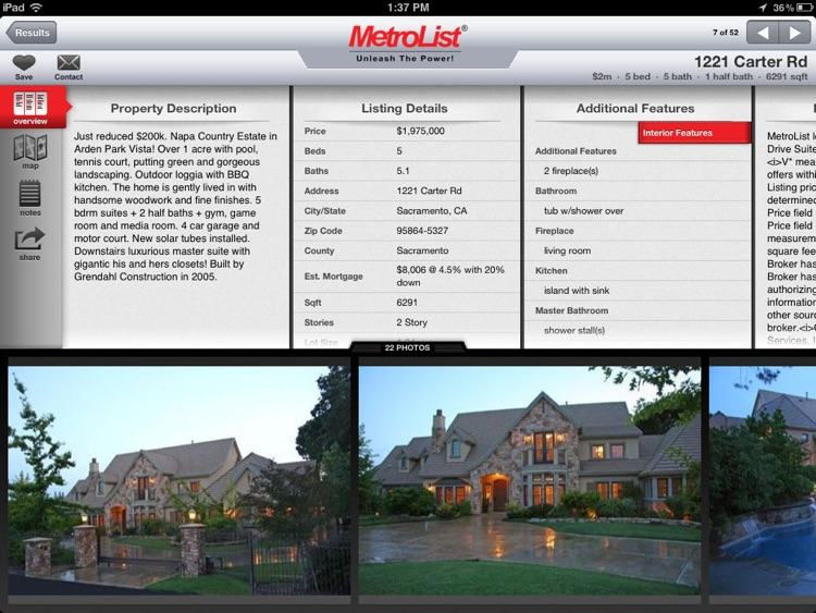 MLS PRO Real Estate for iPad