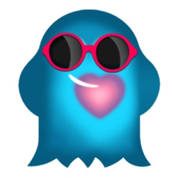 Cute Heart-Glowing Ghost  - 2 stickers by CandyASS
