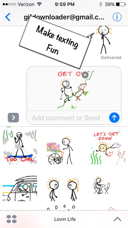 Stick Texting - Lovin Life Stickers for iMessage screenshot-4