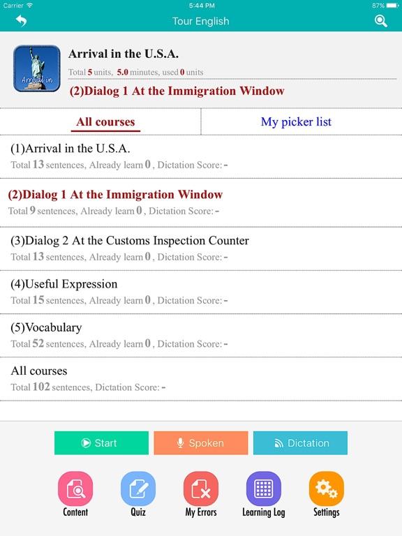 Abroad Tour English screenshot