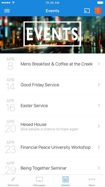 Ginger Creek Community Church App