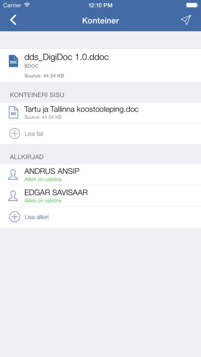 DigiDoc screenshot three