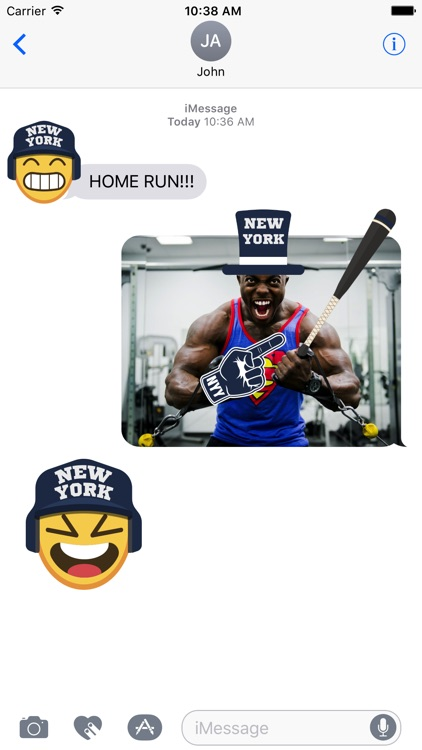 New York Y Baseball Stickers & Emojis screenshot-1