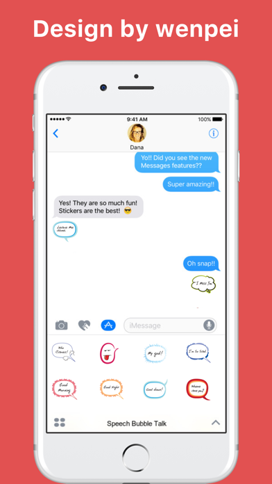 Speech Bubble Talk stickers by wenpei screenshot one