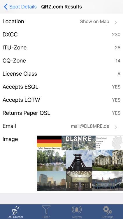 iCluster - The DX-Cluster database screenshot-3
