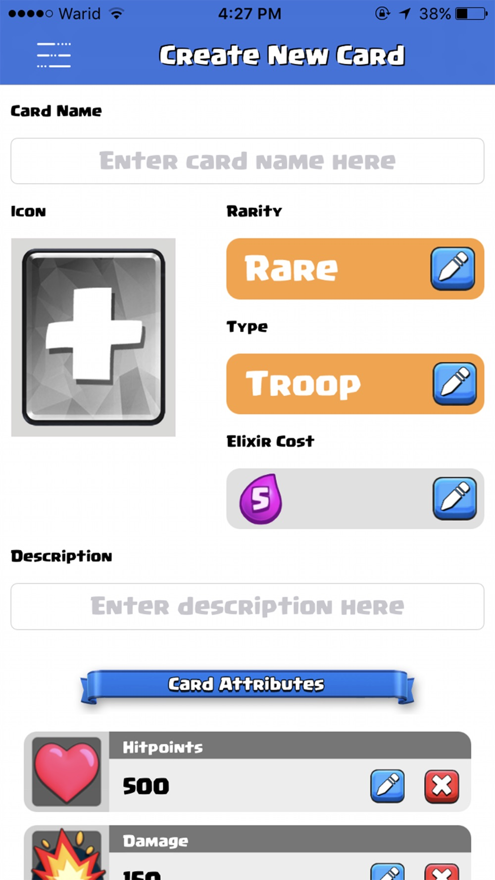Card Creator for Clash Royale Cheat Codes