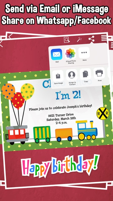 Screenshot 10 For Happy Birthday Invitations Kids Party