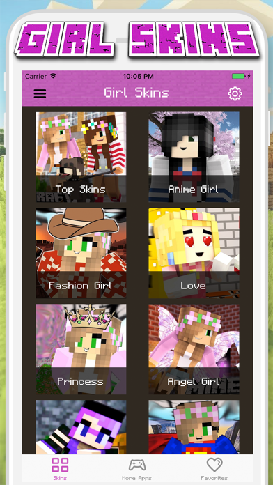 Girl Skins for Minecraft PE - MCPE Skins Free Screenshot
