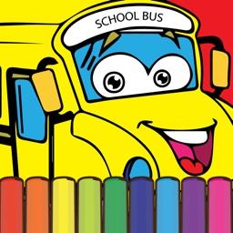 Coloring My ABC School Bus - Alphabet