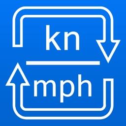 Knots / Miles per hour Converter